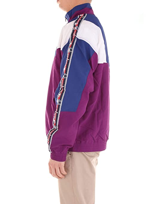 Felpa Champion Reverse Weave Uomo Giacca Zip Viola Blu