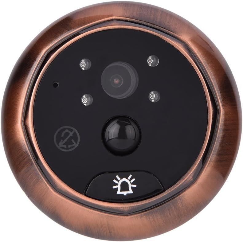 Detecci/ón de visor de la puerta Mirilla 3MP Pantalla TFT a color de 4.3 pulgadas 120 /° Vista en /ángulo Intercomunicador de dos v/ías Desbloqueo Vigilancia en tiempo real Visor de la puerta C/ámara