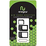 [4 in 1] RinoGear - Nano & Micro SIM Card Adapter Kit Converter (Nano / Micro / Standard) + Removal Tool