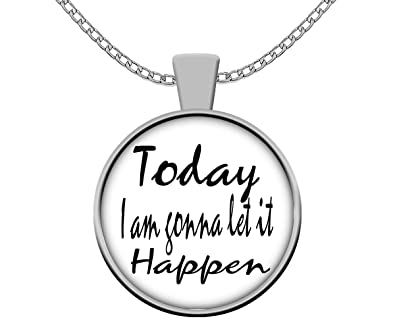 Amazon.com: Yoga Necklace - Today I Am Gonna Let It Happen ...