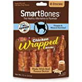 SmartBones Chicken Wrapped Sticks for Dogs, Large, 8-Count