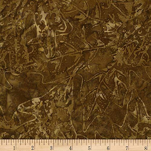 (Timeless Treasures 0573309 Tonga Batik Nutmeg Autumn Leaves Cocoa Fabric by The Yard)