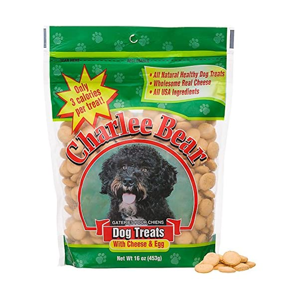 Charlee Bear Dog Treats with Cheese & Egg 1