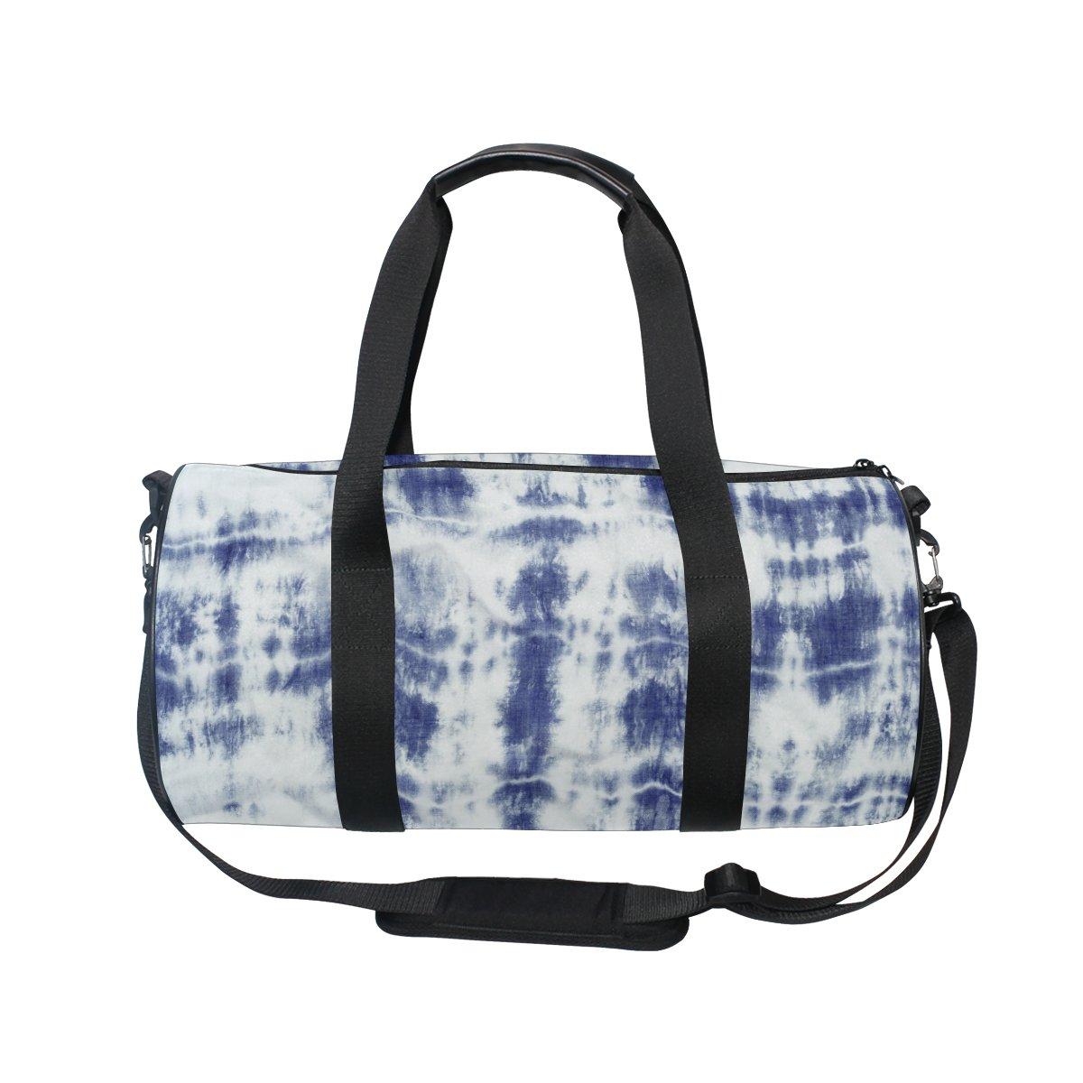 ALAZA Grunge Blue Tie Dye Sports Gym Duffel Bag Travel Luggage Handbag for Men Women