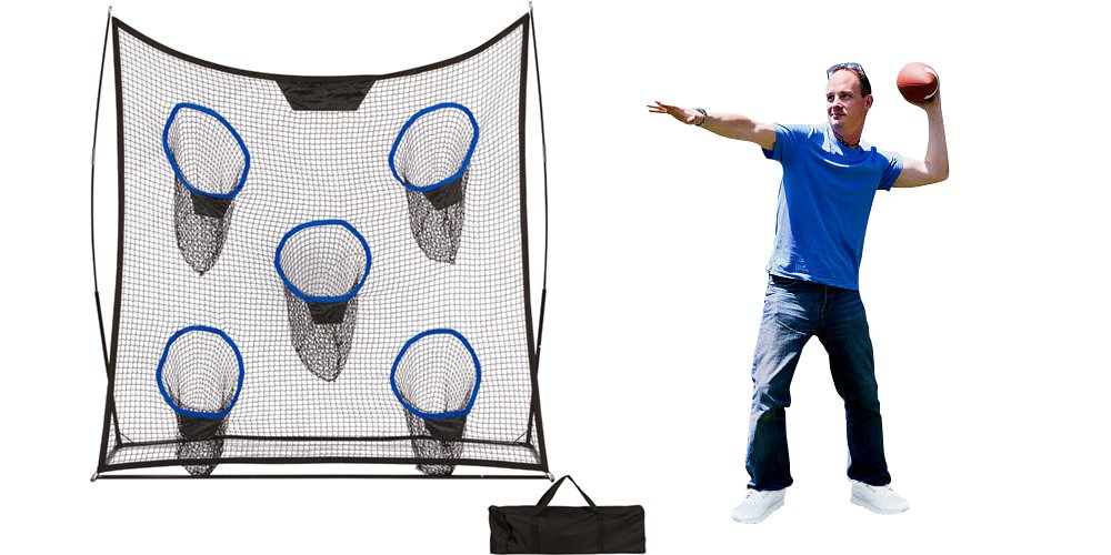 6.9' Portable Football Training Net With Five Targets and Carry Bag by Trademark Innovations