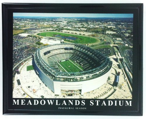 Giants Stadium Aerial - New York Giants and Jets Metlife / Meadowlands Stadium Framed Aerial Photo