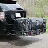 "Arksen 60"" x 20"" inch Cargo Carrier Hitch Mount Folding Basket with (Cargo Bag Kit)"