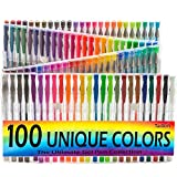 Best Coloring Pens For Adults - Gel Pens Set - 100 Unique Coloring Pens Review