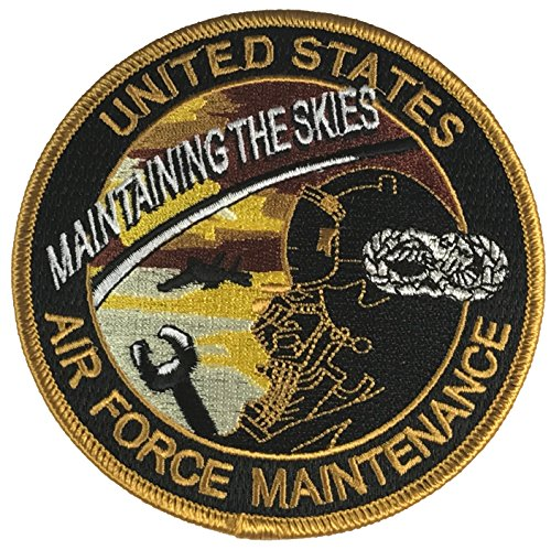 USAF Maintaing The Skies Air Force Maintenance Patch - Veteran Owned Business (Air Force Patch)