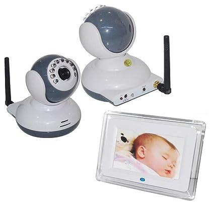 Monitor Inalámbrico Del Bebé De 7 Pulgadas, Cuatro Cámaras Con La Detección De Movimiento De