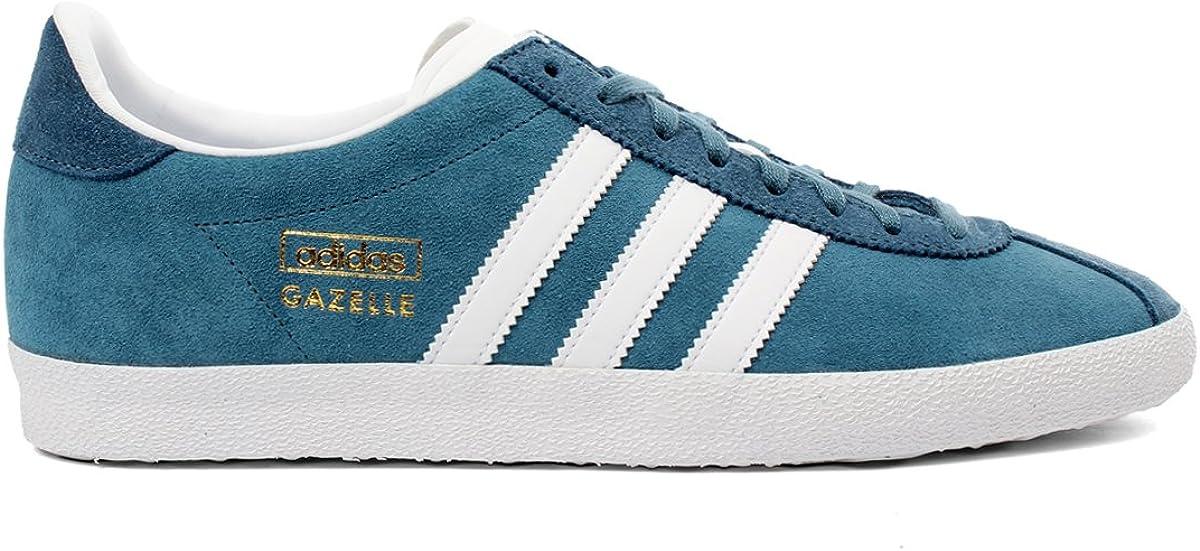 foso hemisferio llave inglesa  adidas Gazelle OG Baskets Homme M25336-43 1/3-9.5 Bleu: Amazon.co.uk: Shoes  & Bags