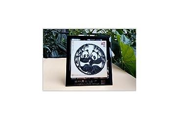 PANDACHOU Wohnzimmer Esszimmer Studie Dekoration Ornamente Panda Schatten  Schatten Rahmen Dekoration Chinesischen Eigenschaften Ornamente P