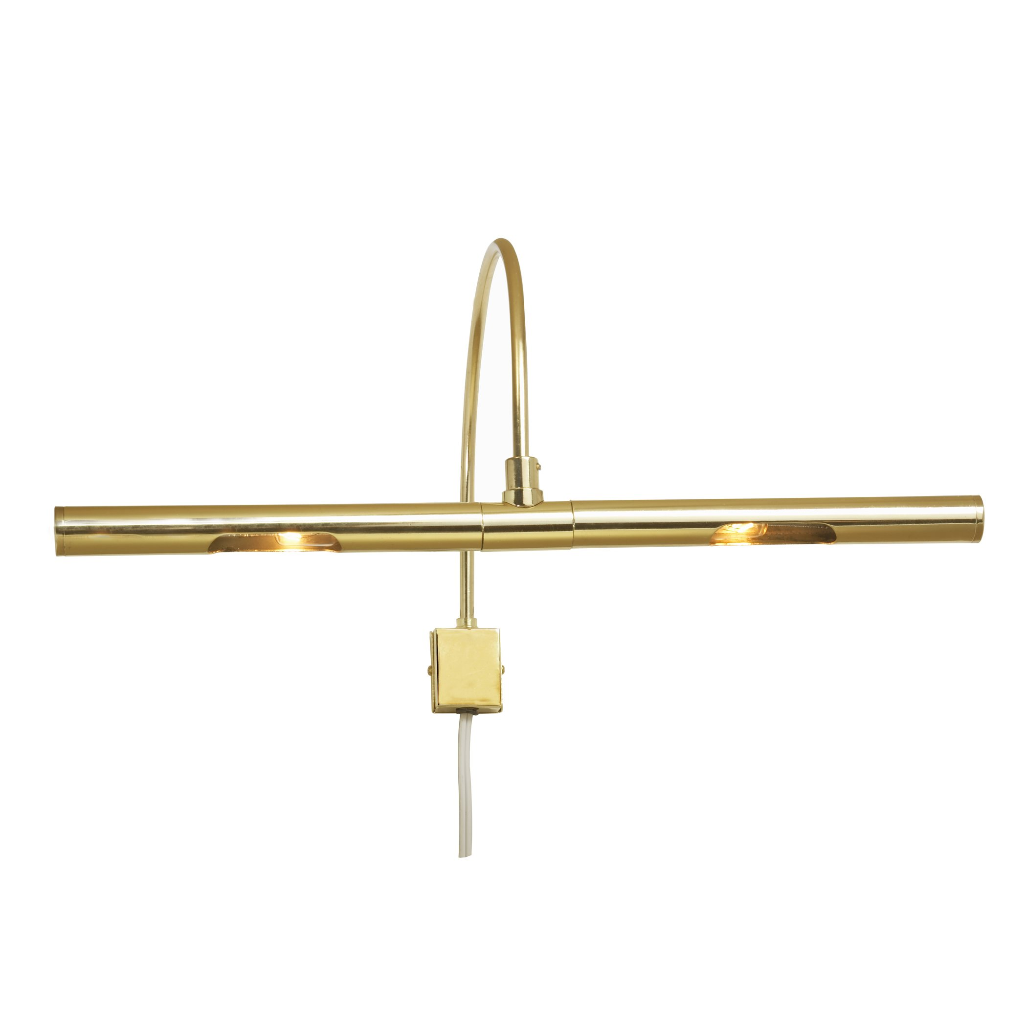 Amertac PC16RL Plug-in 30W Incandescent Picture Light, 16-Inch, Brass