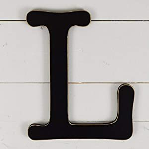 "UNFINISHEDWOODCO 300571 Typewriter Wall Decor Letter L, 11.5"", Black"