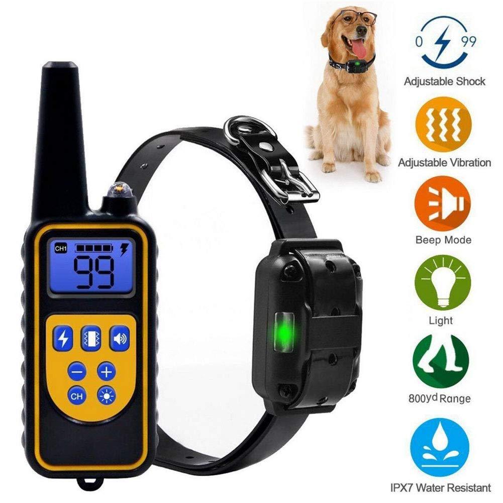 Shhjjpy Dispositivo de ronquidos de Mascotas Perro Entrenamiento Dispositivo de Control Remoto Shock Choque el/éctrico Collar de Perro,1collar