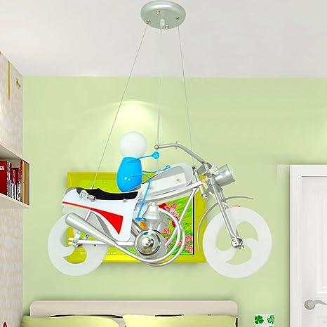 Lxsehn led ferro moto per bambini camera lampadari proteggere gli