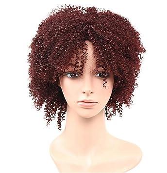 AN-LKYIQI Europa y los Estados Unidos fibra química 3 colores pelucas africanas panecillo peluca