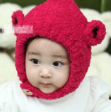 Cute Plush tiene babycap Invierno Gorro Para Bebé Bebé Recién Nacido ...