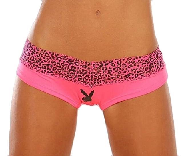 9fe98c014 Playboy Bunny Head Animal Print Lace Boyleg Boyshort Cheeky Panties ...