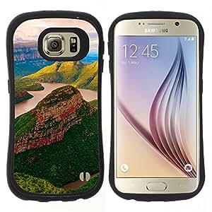 "Hypernova Slim Fit Dual Barniz Protector Caso Case Funda Para Samsung Galaxy S6 [Yuzhnaya afrika Blyde río Reka""]"