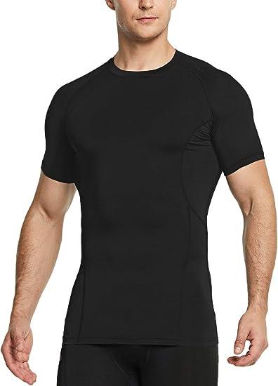 TSLA Tesla MUB23 Cool Dry Short Sleeve Compression T-Shirt Black//Black