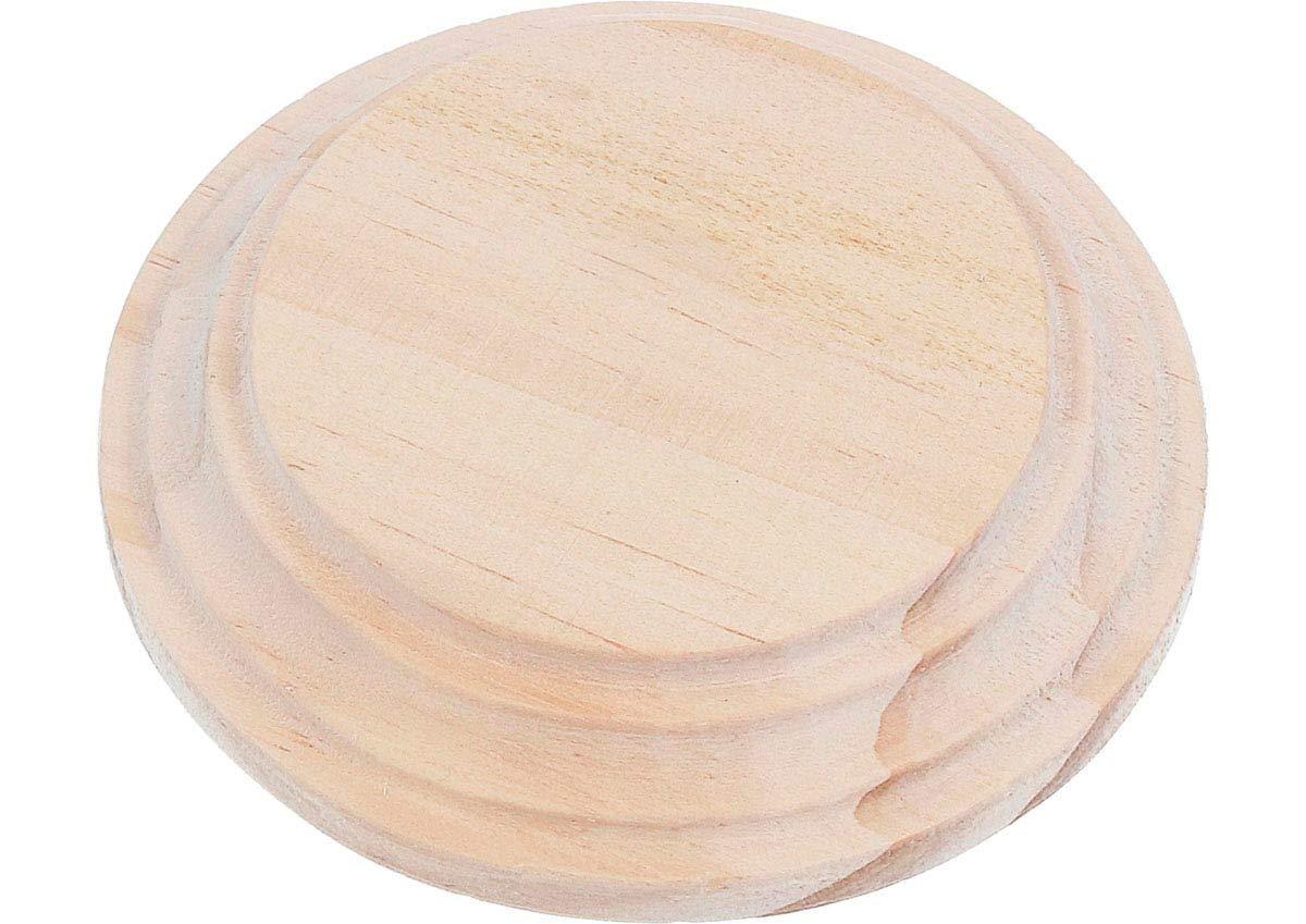 8cm alt Sup 1,5cm Decorar y Hacer Manualidades. peana Madera de Pino Macizo Redonda inf Base de Madera para Pintar Base 6cm