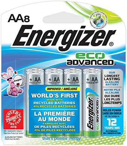 Batteries: Energizer EcoAdvanced