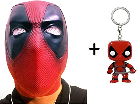 SEJNGF Deadpool Mask Latex Fabric Full Head Helmet Movie Cosplay ...