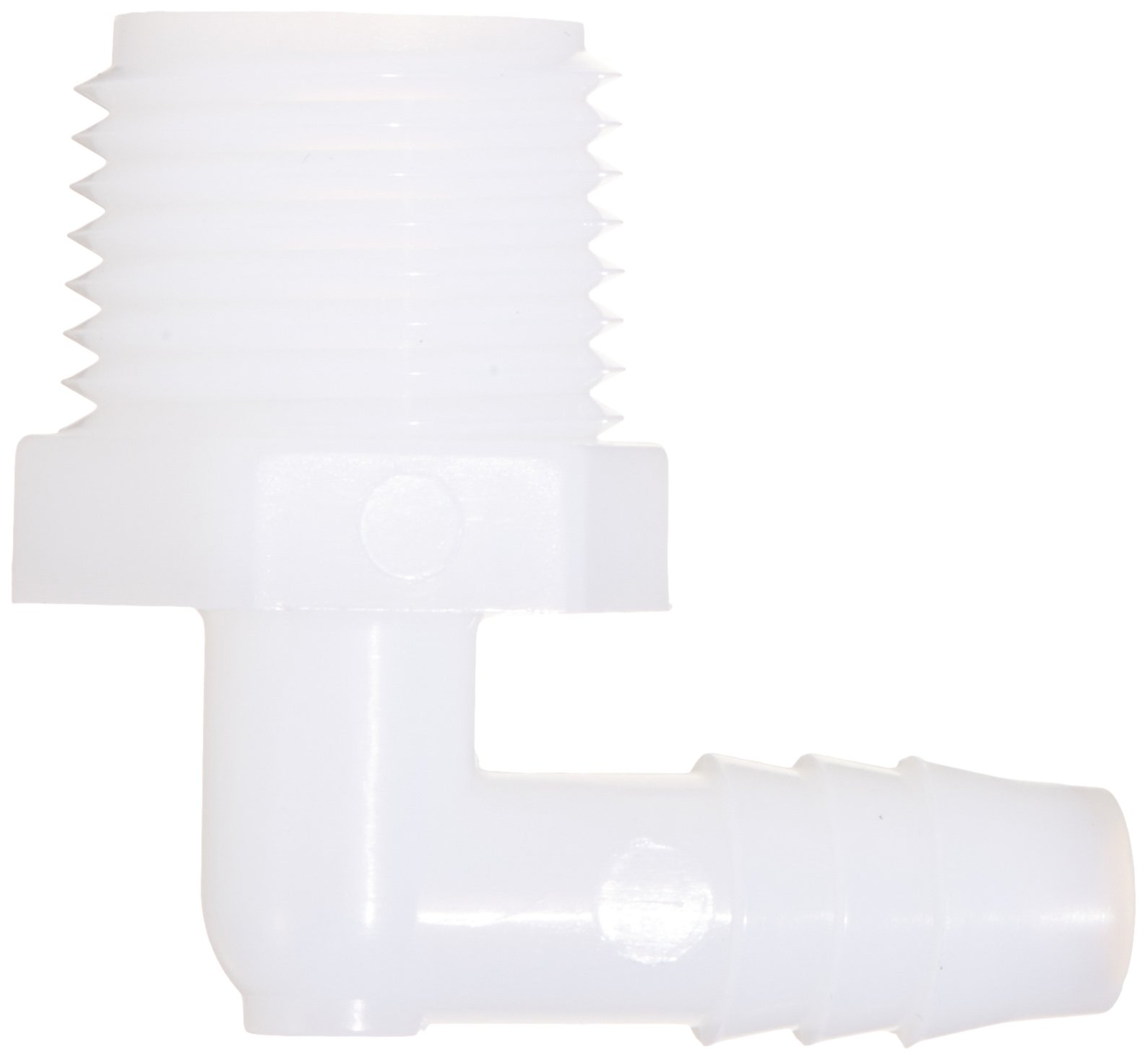 Parker Hannifin 329HB-6-8N-pk10 Par-Barb Male Elbow Fitting, Nylon, 90 Degree Angle, 3/8'' Hose Barb x 1/2'' Male NPT, White (Pack of 10) by Parker Hannifin (Image #2)