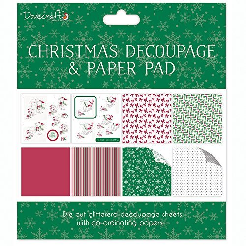 Pad Decoupage (Dovecraft White Bears Christmas FSC Decoupage and Paper Pad, Paper, Multicolour by Dovecraft)