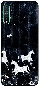 For Huawei Nova 5 Case Unicorns At Night
