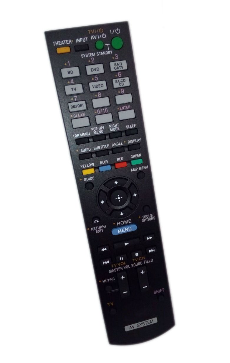 Replaced Remote Control Compatible for Sony HTC-T150 RM-AAU072 1-487-612-11 HTCT150HP HT-CT150HP Audio / Video AV Receiver Home Theater System