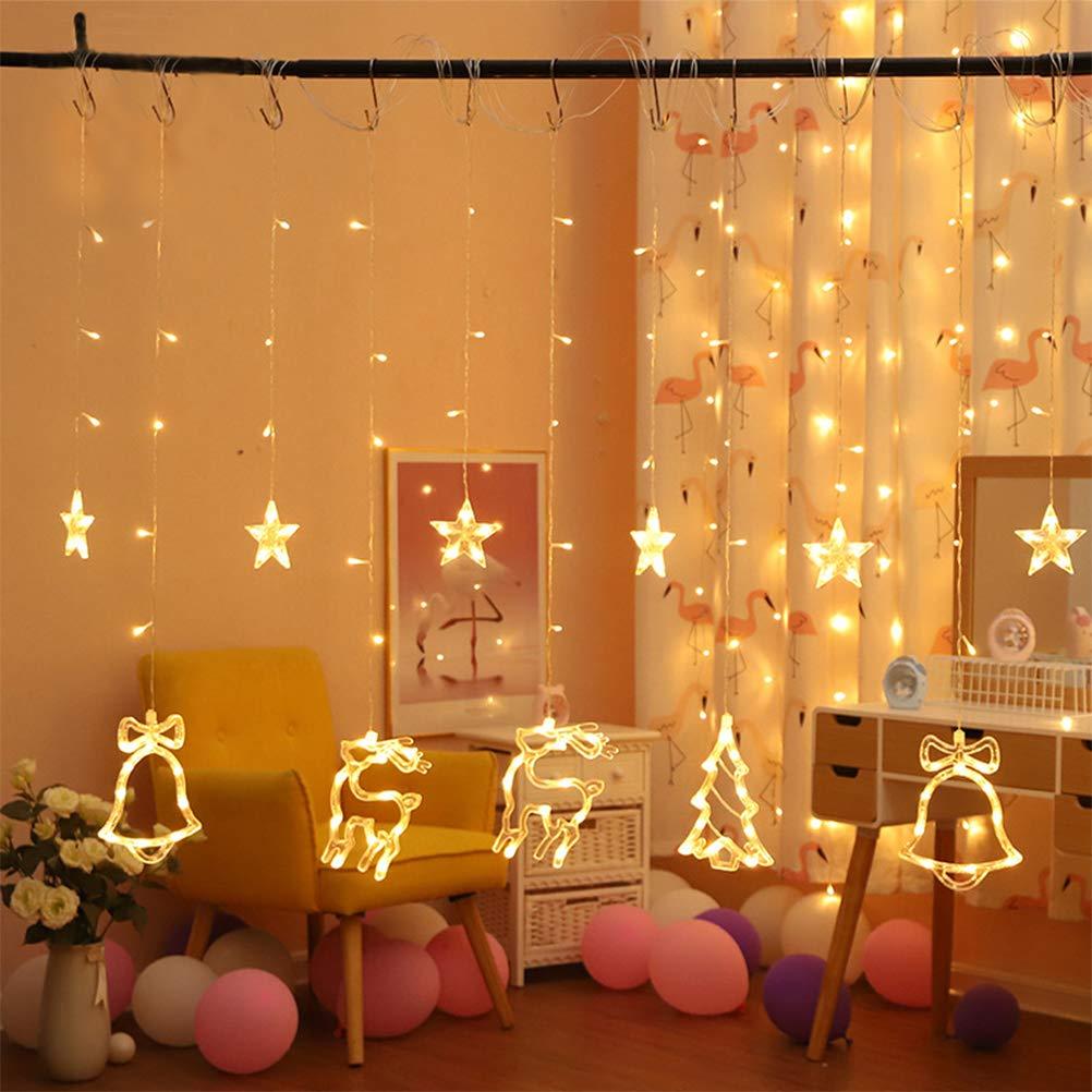 luci di Natale Cervo natale Albero di natale TiTaKa Luci di Natale,luci a tenda 138LED