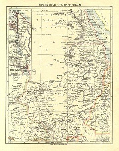 Amazon.com: UPPER NILE, EAST SUDAN & SUEZ C. Khartoum. White ... on damascus map, lake victoria map, casablanca map, tripoli map, kinshasa map, jerusalem map, cairo map, amman map, meroe map, monrovia map, windhoek map, juba map, bujumbura map, addis ababa map, yerevan map, nairobi map, asmara eritrea map, riyadh map, pretoria map, brazzaville map,