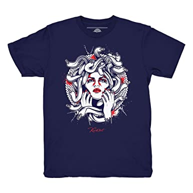 35a7e5b4e50b Tinker 6 Medusa Navy Blue Shirt to Match Jordan 6 Tinker Sneakers (Small)