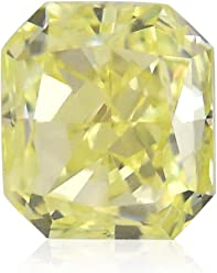 0.32Cts Fancy Yellow Loose Diamond Natural Color Radiant Cut