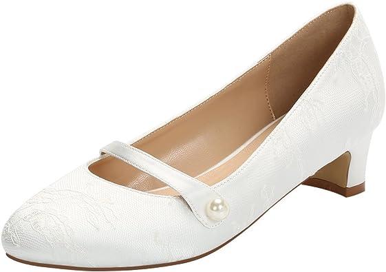 ERIJUNOR E2226 Wedding Comfort Low Heel