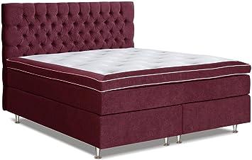 Cama con somier cama 105 x 200 cm rojo: Amazon.es: Bricolaje ...
