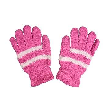 Big Kids Chenille Striped Gloves