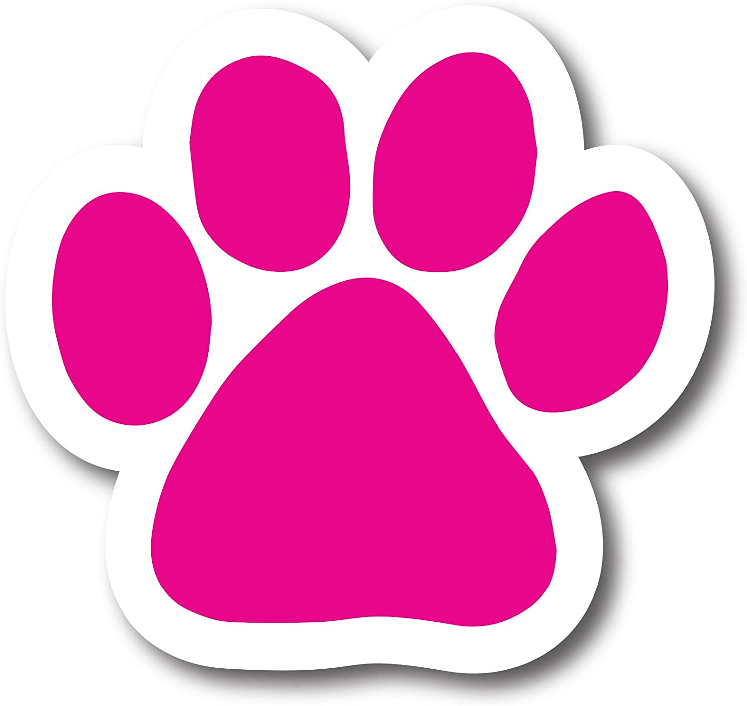 Magnet Me Up Blank Pink Pawprint Car Magnet - 2x7 Paw Print Auto Truck Decal Magnet