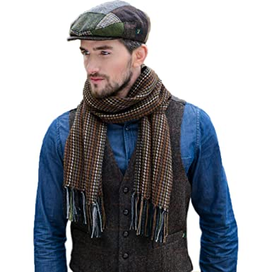 3a6d69cbad454f Image Unavailable. Image not available for. Color: Mens Wool Scarf,  Handwoven in Ireland, Traditional Fishermans ...