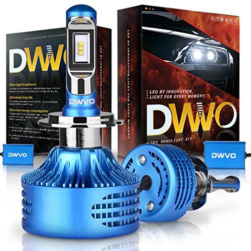 DWVO H7 LED Headlight Bulbs, 6500K 16000Lm Super Bright Hi/Lo Beam Headlight Conversion Kit