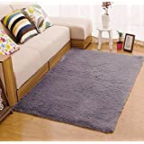 Amazon Price History for:Tojwi Super Soft Modern Shag Area Rugs Living Room Carpet Bedroom Rug for Children Play Solid Home Decorator Floor Rug and Carpets 4- Feet By 5- Feet (Grey)