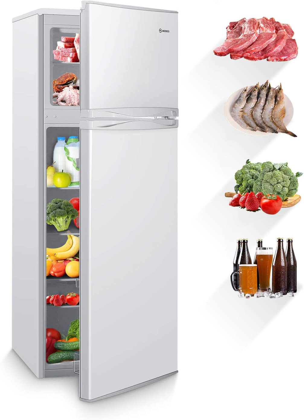 MOOSOO 7.3 Storage Capacity Best Home Refrigerator.