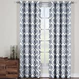 Jacqueline Gray, Top Grommet Jacquard Window Curtain Panel, Set of 2 Panels, 108×120 Inches Pair, by Royal Hotel Review