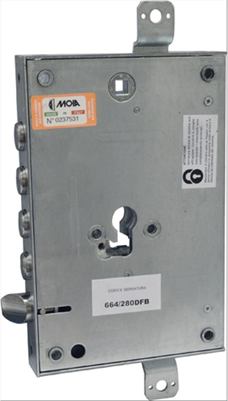 Cerradura para puerta blindada, perfil cilindro europeo 664/280dfb–Adaptable Atra–dierre