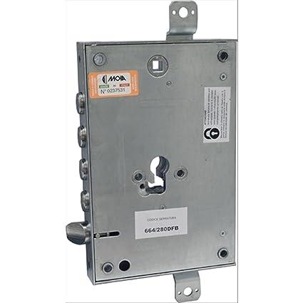 Cerradura para puerta blindada, perfil cilindro europeo 664/280dfb – Adaptable Atra – dierre