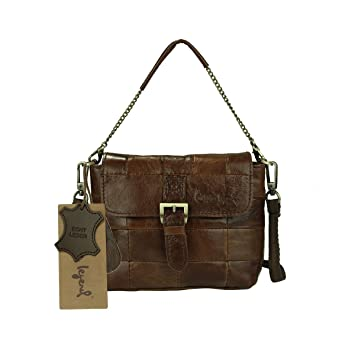 e90b7cdd2b88 Cobbler Legend Cobbler Legend Women Retro Genuine Leather Cross Body Shoulder  Bag Everyday Satchel (Coffee £©  Amazon.co.uk  Luggage