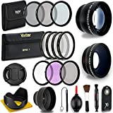 52MM Professional Lens & Filter Bundle – Complete DSLR/SLR Compact Camera Accessory Kit – Lenses (Telephoto, Wide Angle), Filters (Macro, ND, UV, CPL, FLD), Cleaning Tools + MORE Accessories