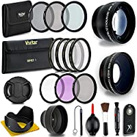 Professional 52MM Lens & Filter Bundle – Complete DSLR/SLR Compact Camera Accessory Kit – Lenses (Telephoto, Wide Angle), Filters (Macro, ND, UV, CPL, FLD), Cleaning Tools + MORE Accessories